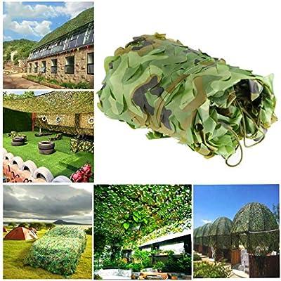 Red de Protección Solar para Jardín, Red de Camuflaje Red de Sombra Verde 6m 8m 10m Toldos Resistentes Fuego Malla de Camuflaje, para Militares Caza Oculta Cubierta Automóvil, Múltiples Tamaños: Amazon.es: Hogar