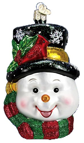 Old World Christmas COLORFUL SNOWMAN Blown Glass Ornament 24087 ()