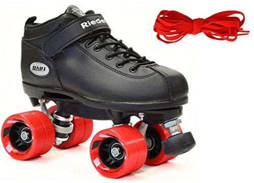 Riedell Dart Skates - Dart Black Speed Skates - Dart Black Quad (Riedell Skates Sizing)
