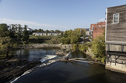 Photograph - View from the top of Middlebury Falls, a waterfall on the Otter Creek in the heart of downtown Middlebury, Vermont- Fine Art Photo Reporduction 24in x 16in