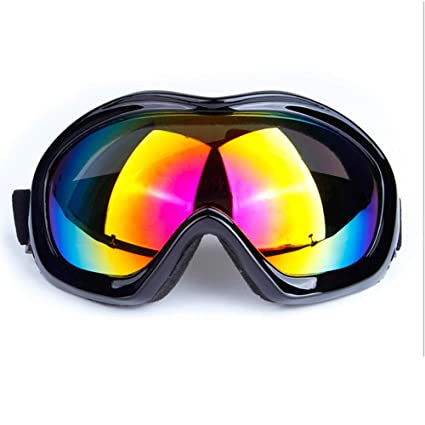 9f42228b78d0 Image Unavailable. Image not available for. Color  QJKai Ski Goggles Men  and Women Professional Single-Layer ski Goggles Windshield Motorcycle  Goggles