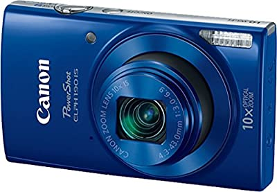 Canon PowerShot ELPH 190 Digital Camera (Blue) with 32GB Memory + CANON PSC-2070 CASE + DigitalAndMore Microfiber Cloth by DigitalAndMore