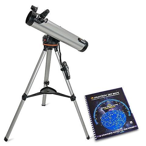 Celestron 76LCM 3-inch Fully Computerized Newtonian Reflector Telescope w/ Skymaps (Celestron Computerized Newtonian)