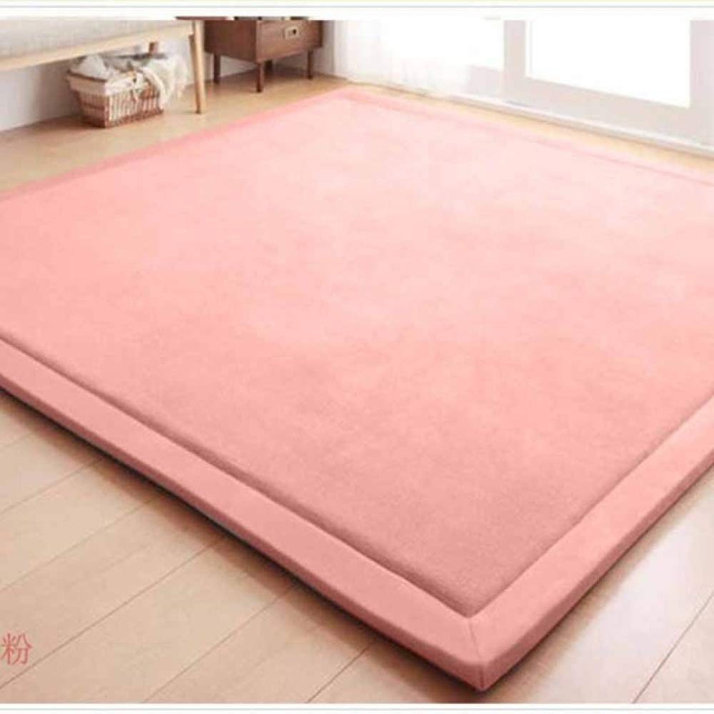 FENGDONG Mats Large Carpets Thickened Bedroom Playmat Home Lving Room Rug Floor Color 02 80x200cm by FENGDONG