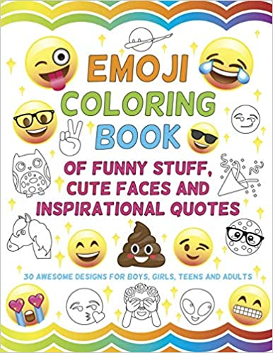 Amazon.com: Emoji Coloring Book of Funny Stuff, Cute Faces ...