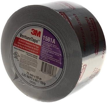 "180/' Length x 2-1//2/"" Width 1 Roll 3M 15817 Venture Tape 1581A HVAC Foil Tape"