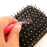 Hair Brush Cleaner,Durable Hair Brush Comb Cleaner Embedded Plastic Handle Tool Cleaning Remover,Hair Brush Cleaner Cleaning Rake Combs Cleaner Remover Embedded Plastic Handle Tool
