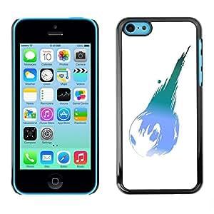 Be Good Phone Accessory // Dura Cáscara cubierta Protectora Caso Carcasa Funda de Protección para Apple Iphone 5C // Earth Planet Modern Art Ball Blue Turquoise
