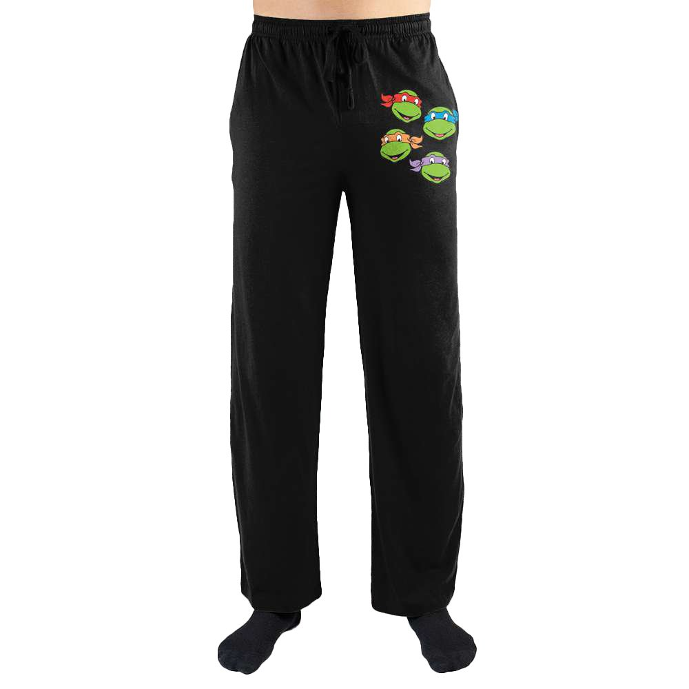 Teenage Mutant Ninja Turtles TMNT Four Brothers Print Mens Loungewear Lounge Pants