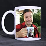Novelty Design Custom Jimmy Fallon & Justin Timberlake Mug 11 Oz White Coffee Mug Tea Cup Twin Sides Printing-0378