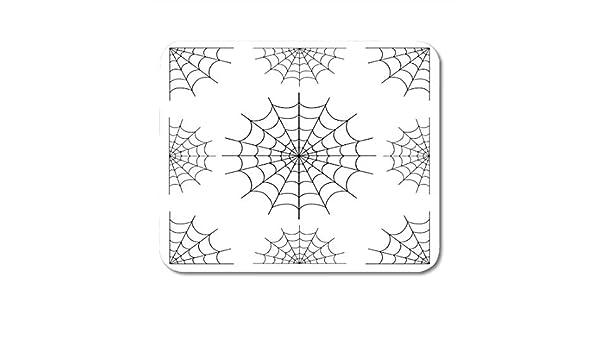 Alfombrillas de ratón Telaraña de Spiderweb Araña blanca negra ...