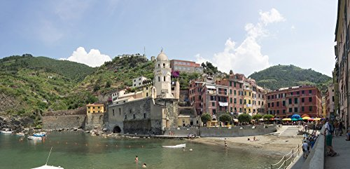 Posterazzi Poster Print Collection View of Little Harbor of Vernazza La Spezia Liguria Italy Panoramic Images, (12 x 6), Multicolored ()