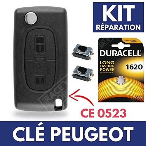 Carcasa de llave Jongo mando a distancia Peugeot 107 207 308 ...
