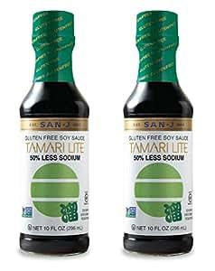 San J Gluten Free Tamari Lite Soy Sauce, 20 Ounce - 2 pk