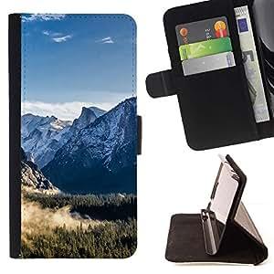 Momo Phone Case / Flip Funda de Cuero Case Cover - Paisaje de la nieve de la montaña;;;;;;;; - Samsung Galaxy S5 V SM-G900