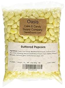 Jelly Belly Buttered Popcorn Jelly Beans, 1 Pound