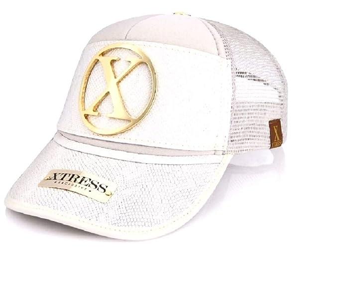 Xtress Exclusive Gorra blanca de cuero blanco para hombre y mujer: Amazon.es: Ropa y accesorios