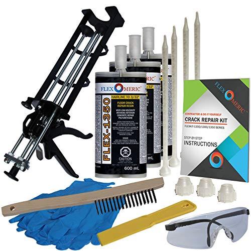 Concrete Floor Crack Repair Kit - Very Low Viscosity Polyurethane - FLEXKIT-1350-30