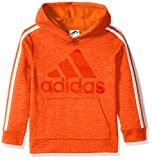 adidas Big Boys' Athletic Pullover Hoodie, Bold Orange Adi 1, M(10/12)