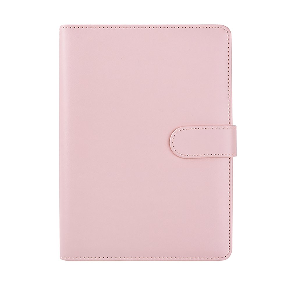 Candy Color A5 6-Holes Leather Refill Notebook Soft Cover Loose Leaf Notepad Shell Spiral Binder Planner Replacement Cover Tong Yue