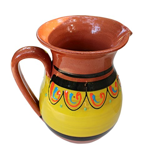 Terracotta Yellow, 3/4 Quart Pitcher - Hand Painted From Spain