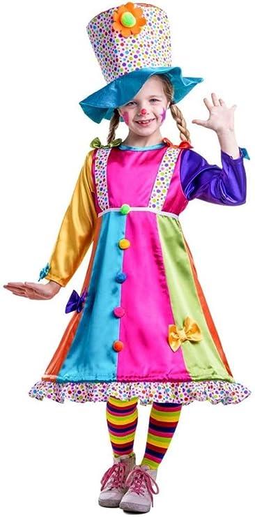Bambini CERCHIO Clown Costume Numero Da Circo Halloween Bambini Vestito M