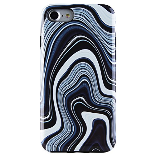 iPhone 7 Case, iPhone 8 Case, Dimaka Marble Pattern Case, Dual Layer Covers for Girls, Sturdy and Protective Bumper for Apple iPhone 7 and 8 (Marble 72) (Pressed Marble Glass)