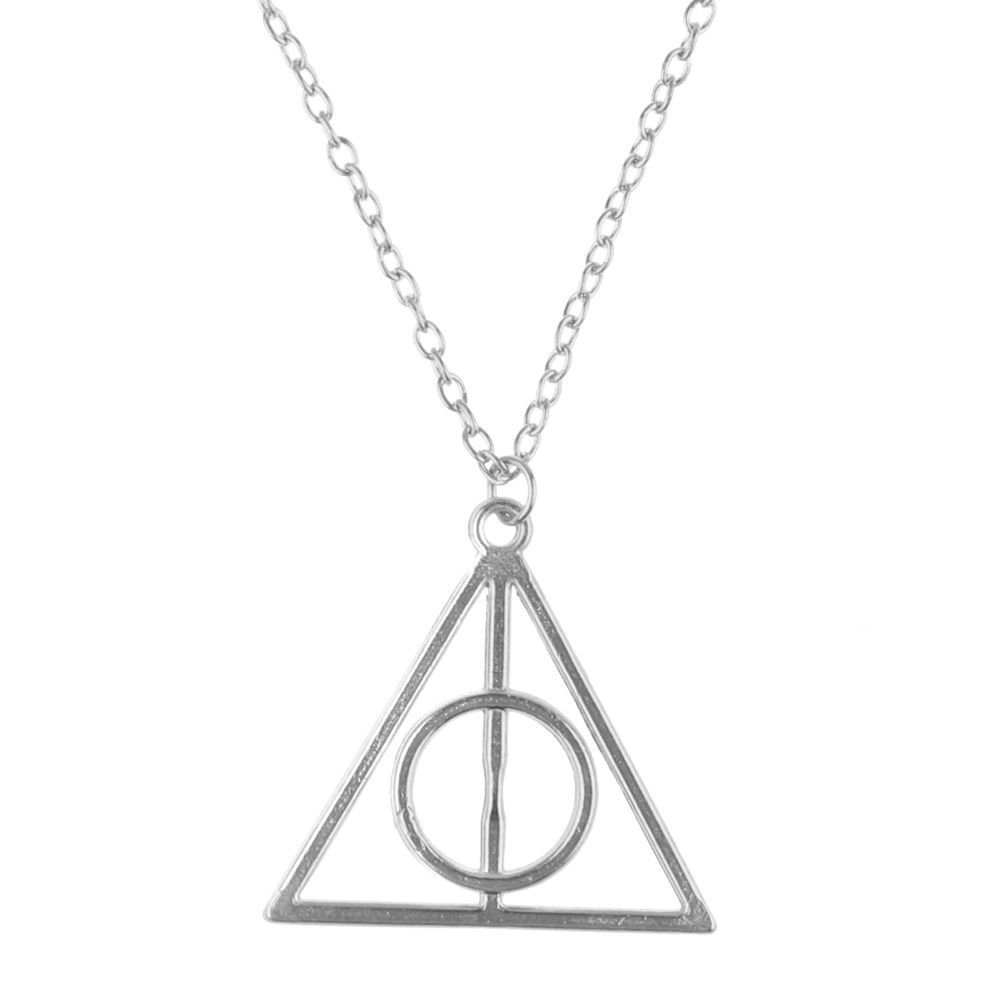 VEBE Magical Jewelry Gift Co. Deathly Hallows Symbol Pendant Charm Chain Necklace