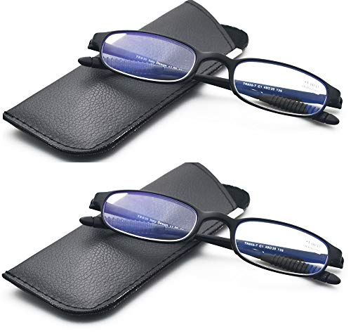 Computer Blue Light Blocking Reading Glasses(Flexible and Lightweight) Plastic Portable ()