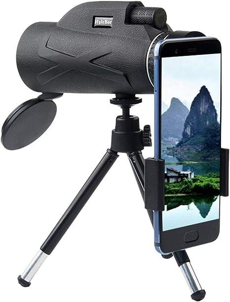 Telescopio Monocular, 80X100 HD Telescopio Terrestre con Trípode Y Adaptador para Smartphone Monoculares De Largo Alcance para Observación De Aves Caza Conciertos Viaje: Amazon.es: Deportes y aire libre