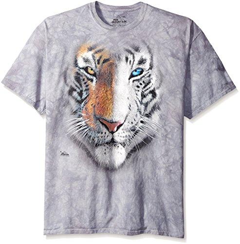 The Mountain Big Face Split Tiger T-Shirt, XX-Large, Gray