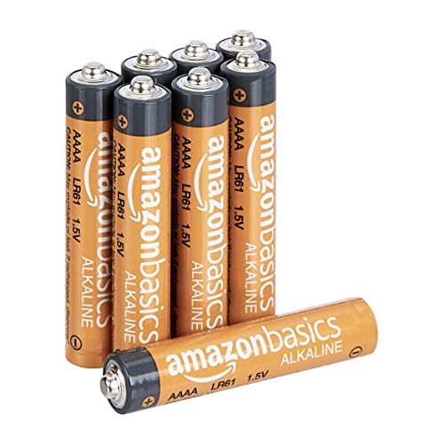 AmazonBasics AAAA 1.5 Volt Everyday Alkaline Batteries - Pack of 8 (Packaging may vary)