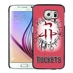 New Custom Design Cover Case For Samsung Galaxy S6 houston rockets 1 Black Phone Case