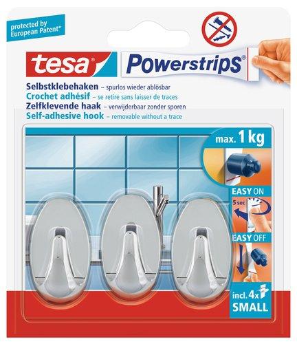 tesa 57533-00016-01 Powerstrips Haken Small wei/ß 3 x 12 cm