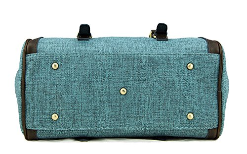 La mujer Xinmaoyuan Lienzo Bolsos Bolso simple mensajero hombro bolsa almohada,azul Blue