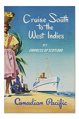Canadian Pacific - Cruise South to the West Indies Vintage Poster (20x30 Premium 1000 Piece Jigsaw Puzzle, Made in USA!)