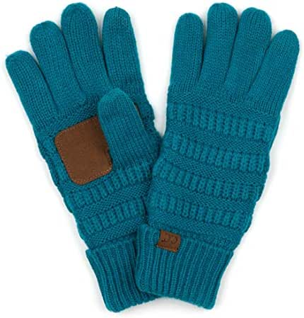 Funky Junque's Beanies Matching Winter Lined Warm Knit Touchscreen Texting Gloves