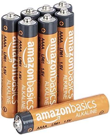 Amazon Basics 8 Pack AAAA High-Performance Alkaline Batteries, 3-Year Shelf Life