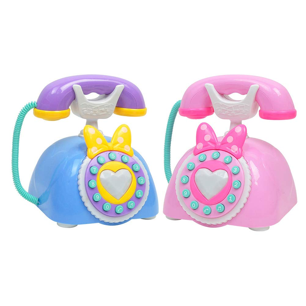 chinatera Simulation Retro Chatter Telephone with Light and Music Toys for Kids Educational Toy(Color Random Delivery)