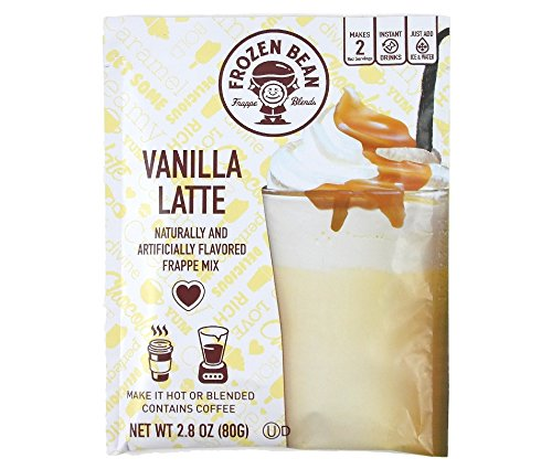 Frozen Bean Vanilla Latte Frappe Mix, 2.8 Ounces (Pack of 4) (Coffee Bean Ice Blended)