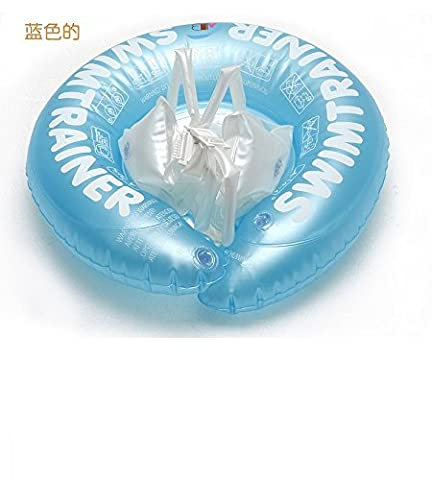 PinWei_ Babies baby swim buoy ABC infant children's pools lie on the circle under the arm seat,Small blue
