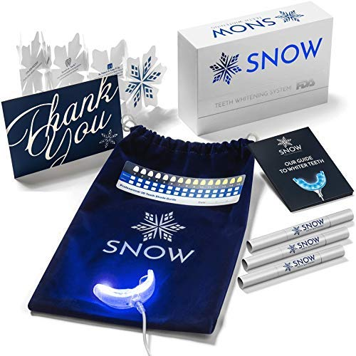 Snow Teeth Whitening Kit All-in-One At-Home Teeth Whitening System for Whiter Teeth Without Sensitivity (Best At Home Whitening System)