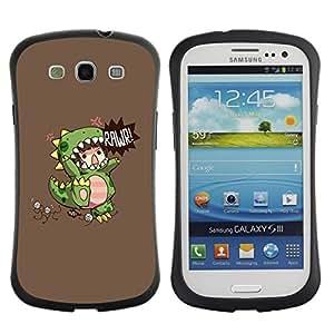 Suave TPU GEL Carcasa Funda Silicona Blando Estuche Caso de protección (para) Samsung Galaxy S3 I9300 / CECELL Phone case / / Children'S Dinosaur Monster Mother /
