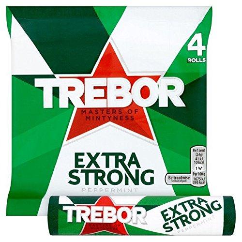 Trebor Extra Strong Peppermint Mints - 4 x 41g
