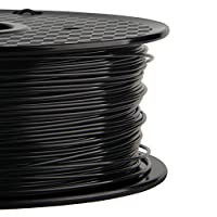 1.75mm 3D Filament PLA 3D Printer Filament 1KG Spool Filament for 3D Printing, Dimensional Accuracy +/- 0.02 mm(Black) from Silver 3D