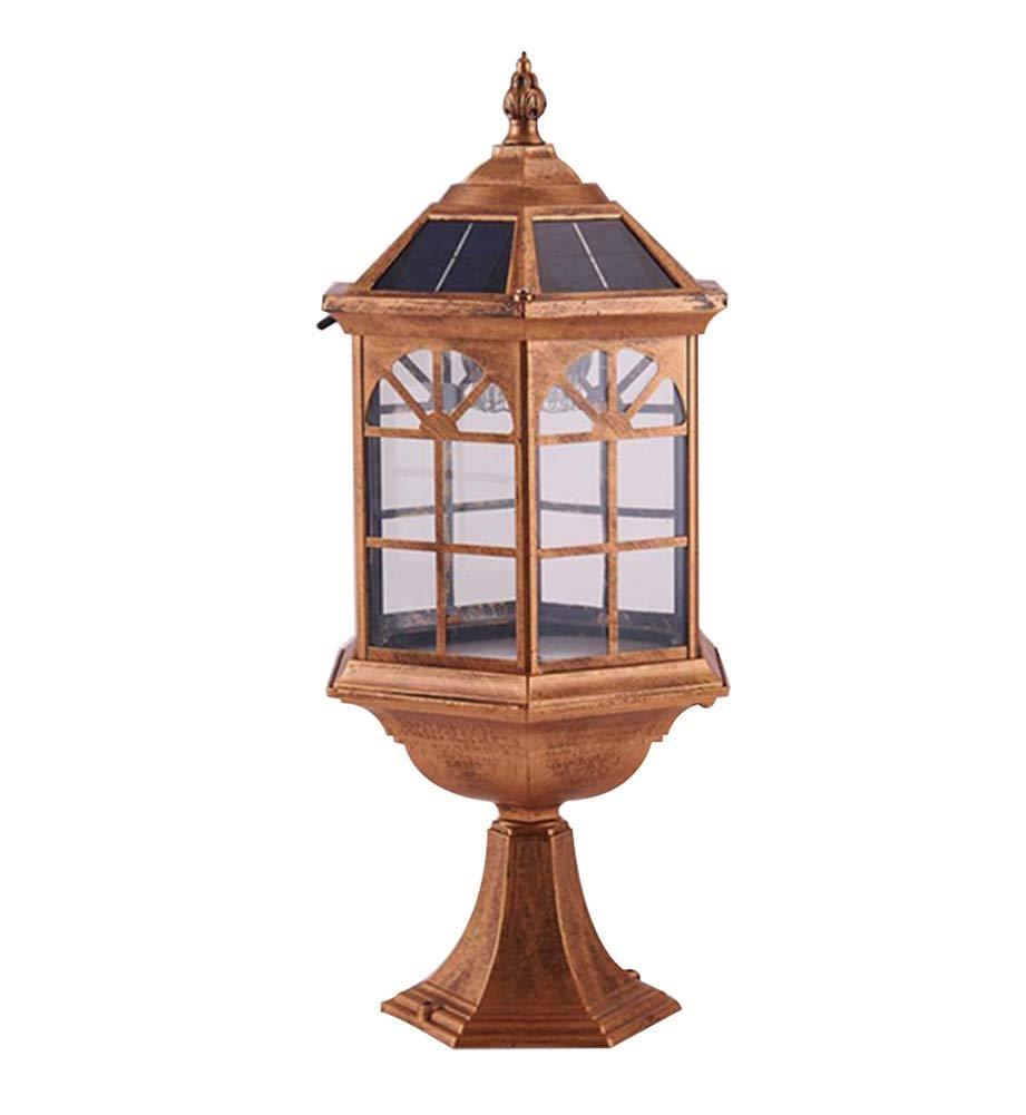 Luci solari a LED, Lampada da terra impermeabile per esterni, Luce da giardino a luce di paesaggio, Villa Park Home Lampada da pilastro a parete impermeabile esterna Super Bright GJX