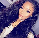 Echo Beauty Brazilian Virgin Hair Human Hair 130% Density Lace Human Hair Wigs For Black Women Brazilian Body Wave Lace Front Wig Glueless Lace Wigs 16inch