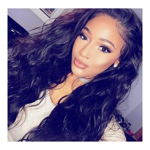 """Discount Echo Beauty Natural Black Wave Brazilian Virgin Hair Glueless Full Lace Human Hair Wigs With Baby Hair 14"""""""