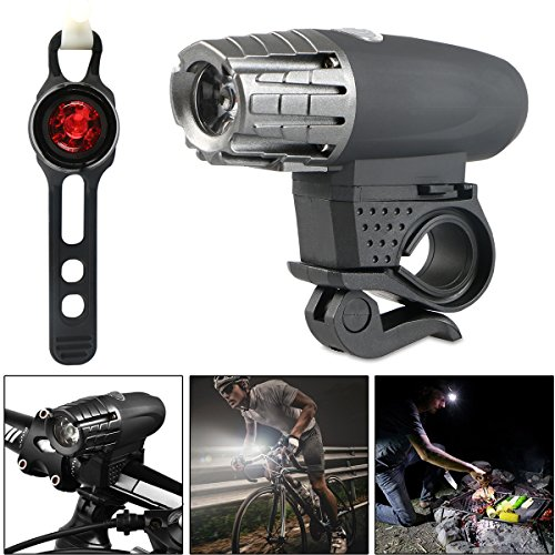 USB Rechargeable LED Bike Light Set, LinkStyle Bright Waterproof Bicycle LED Front Headlight and Rear Tail Light Set for Kids Men Women Road Cycling Mountain Bike Road Bike Safety -  93883