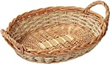 Kesper Fruit/Bread Basket With Two Handles 15.75'' x 11.81'' x 3.15'' of Willow, Brown